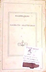 HAKİKATIN ARAŞTIRILMASI II