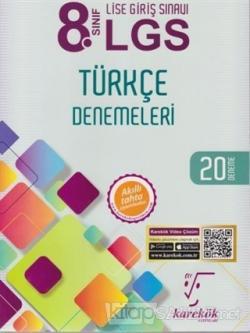 8. Sınıf LGS Türkçe Denemeleri 20 Deneme - Kolektif | Yeni ve İkinci E