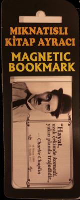 Charlie Chaplin Kitap Ayracı Mıknatıslı 8x5cm