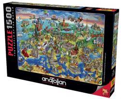 Avrupa Haritası Puzzle 1500 Parça 4557