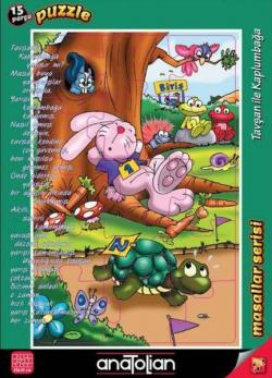 Puzzle 15 Parça Masallar Serisi Tavşan İle Kaplumbağa
