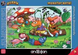Puzzle 15 Parça Masallar Serisi Ağustos Böceği ve Karınca
