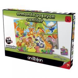 Ormanda Yaşayan Canlılar 48 Parça Puzzle 7466