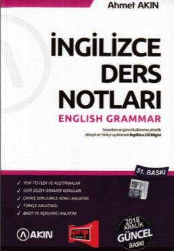 Yargı İngilizce Ders Notları English Grammar Yeni - | Yeni ve İkinci E