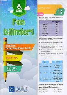 Bulut Eğitim 8. Sınıf Fen Bilimleri Kazanım Değerlendirme ve Ödev Testleri