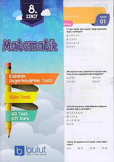 Bulut Eğitim 8. Sınıf Matematik Değerlendirme ve Ödev Testleri