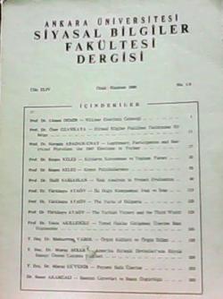 Ankara Üniversitesi Siyasal Bilgiler Fakültesi Dergisi - Cilt: XLIV, No: 1-2
