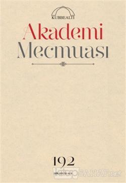 Akademi Mecmuası Sayı: 192 Ekim 2019