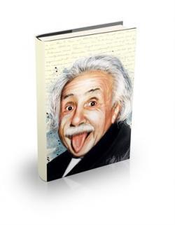 Albert Einstein Sert Kapaklı Defter