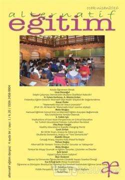 Alternatif Eğitim Dergisi Sayı: 1 Ocak - Nisan 2016
