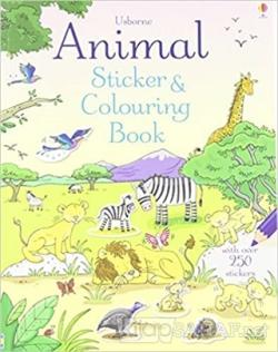 Animal Sticker Colouring Book