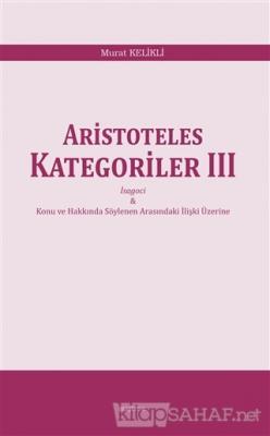Aristoteles  Kategoriler 3