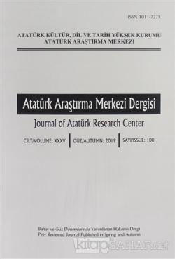 Atatürk Araştırma Merkezi Dergisi Sayı: 100