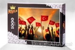 Bayrak Sevgisi (1000 Parça) - Ahşap Puzzle Türkiye Serisi - (TR01-M)