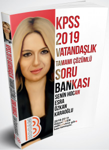 Benim Hocam 2019 KPSS Vatandaşlık Tamamı Çözümlü Soru Bankası