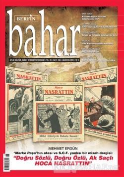 Berfin Bahar Aylık Kültür Sanat ve Edebiyat Dergisi Sayı: 246 Ağustos 2018