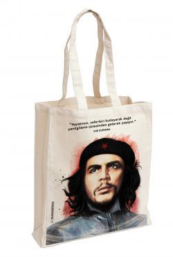 Che Guevara Baskılı Özel Bez Çanta 38x35 cm