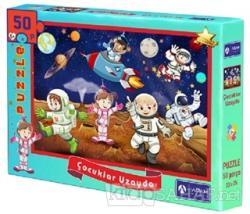 Çocuklar Uzayda 50 Parça Puzzle