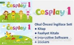 Cosplay 1 Okul Öncesi İngilizce Eğitim Seti (Kitap + Faaliyet Kitabı + Stickers + Interactive Software)