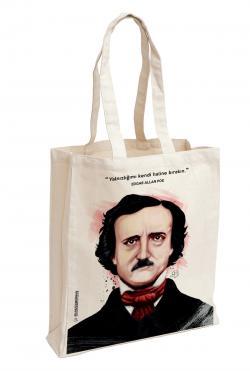 Edgar Allan Poe Baskılı Özel Bez Çanta 38x35 cm