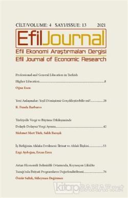 Efil Ekonomi Araştırmaları Dergisi Cilt: 4 Sayı: 13 - 2021