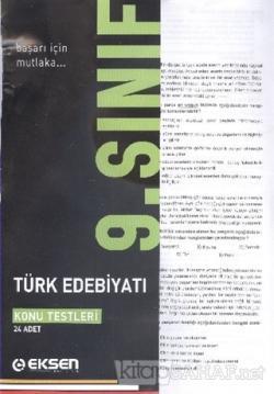 Eksen 9. Sınıf Türk Edebiyatı Konu Testleri