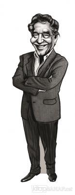 Gabriel Garcia Marquez (Karikatür) - Ayraç