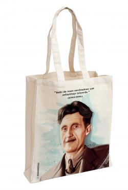 George Orwell Baskılı Özel Bez Çanta 38x35 cm