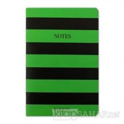 Helloween Çizgili Yeşil Notebook - Defter
