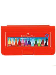 Faber-Castell Altıgen Pastel Plastik Kutu 12'li