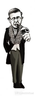Jean-Paul Sartre (Karikatür) - Ayraç