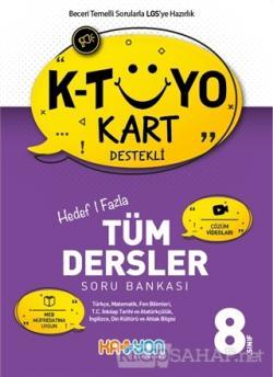 K-Tüyo Kart Destekli Hedef 1 Fazla Tüm Dersler Soru Bankası 8. Sınıf