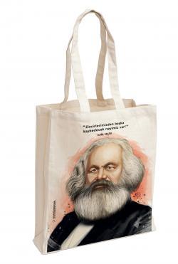 Karl Marx Baskılı Özel Bez Çanta 38x35 cm