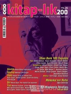 Kitap-lık Dergisi Sayı: 200 Kasım - Aralık 2018