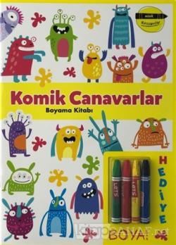Komik Canavarlar Boyama Kitabı - Minik Ressamlar