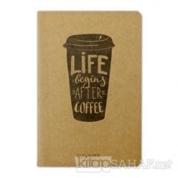 Life Begins Coffee - Defter