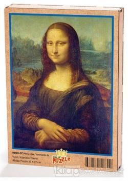 Mona Lisa - Leonardo da Vinci Ahşap Puzzle 204 Parça (KR03-CC)