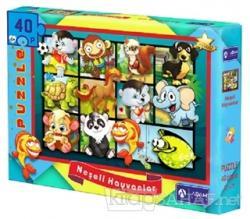 Neşeli Hayvanlar 40 Parça Puzzle