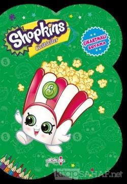 Shopkins Cicibiciler - Yeşil Çıkartmalı Boyama