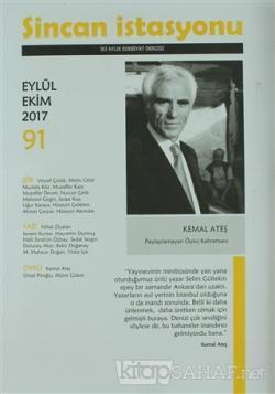 Sincan İstasyonu Edebiyat Dergisi Sayı: 91 Eylül - Ekim 2017