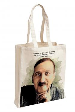 Stefan Zweig Baskılı Özel Bez Çanta 38x35 cm