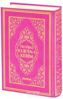 Tecvidli Kur'an-ı Kerim Cami Boy Mühürlü (Pembe Kapaklı) (135TR) (Ciltli)