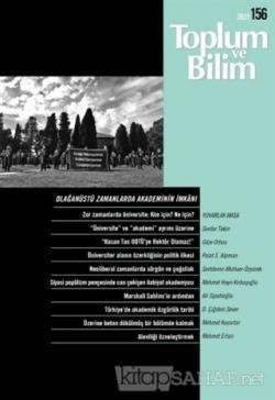Toplum ve Bilim Dergisi Sayı: 156
