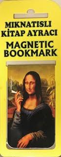 Mona Lisa Kitap Ayracı Mıknatıslı 8x5cm