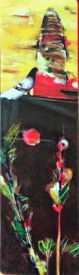 Hüseyin Yıldırım - Gül ve Kuş Plastik Kitap Ayracı