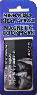 Steve Jobs Kitap Ayracı Mıknatıslı 8x5cm