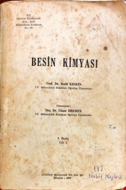 BESİN KİMYASI CİLT 1 - Halit Keskin | Yeni ve İkinci El Ucuz Kitabın A