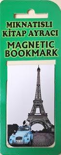 Nostalji Paris Kitap Ayracı Mıknatıslı 8x5cm