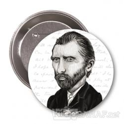 Vincent van Gogh (Karikatür) - Rozet