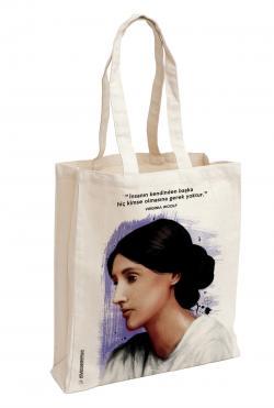 Virginia Woolf Baskılı Özel Bez Çanta 38x35 cm